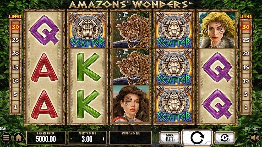Jugar Gratis a la Amazons Wonders tragaperras online