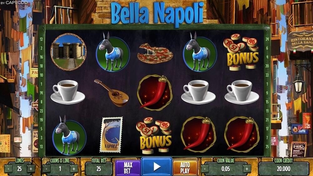 Jugar Gratis a la Bella Napoli tragaperras online