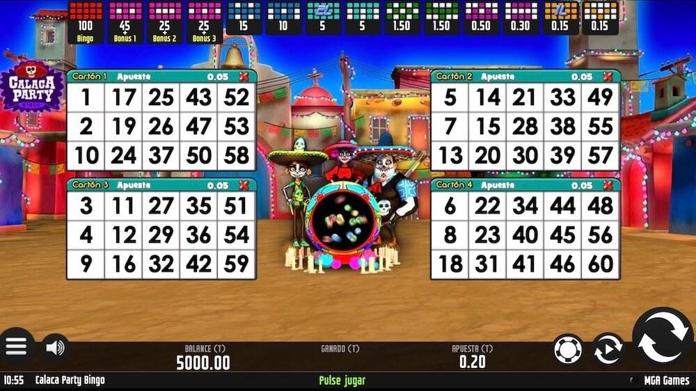 Jugar Gratis a la Calaca Party Bingo tragaperras online