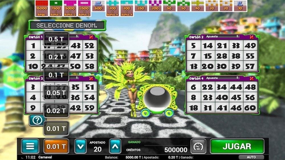 Jugar Gratis a la Carnaval Bingo tragaperras online