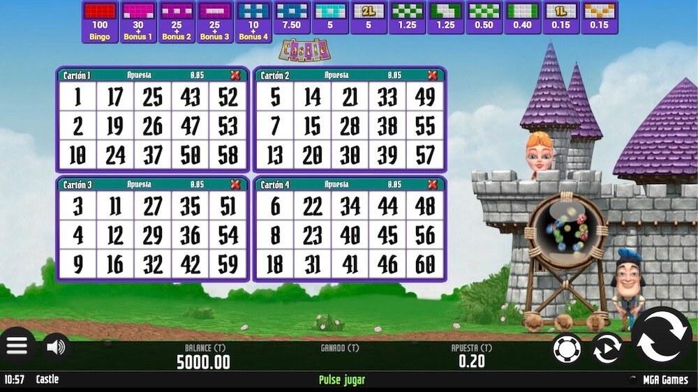 Jugar Gratis a la Castle Bingo tragaperras online