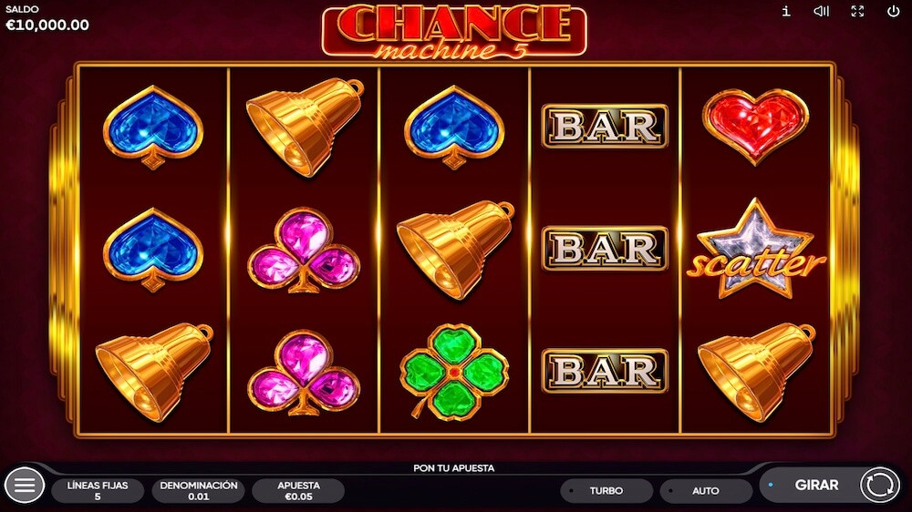 Jugar Gratis a la Chance Machine 5 tragaperras online