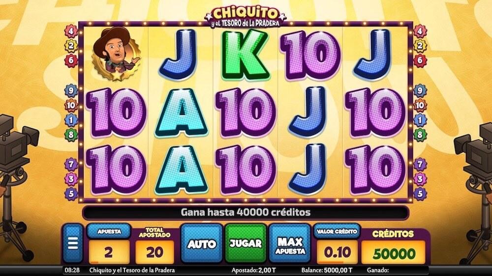 Jugar Gratis a la Chiquito y el Tesoro de la Pradera tragaperras online