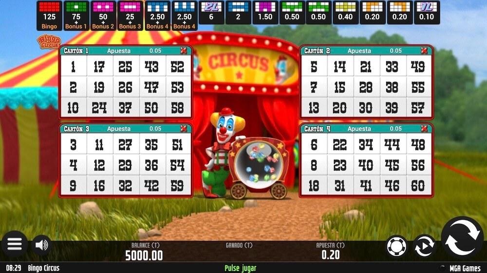 Jugar Gratis a la Circus Bingo tragaperras online