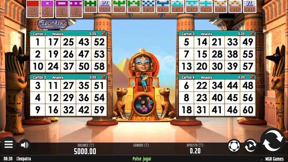 Jugar Gratis a la Cleopatra Bingo tragaperras online