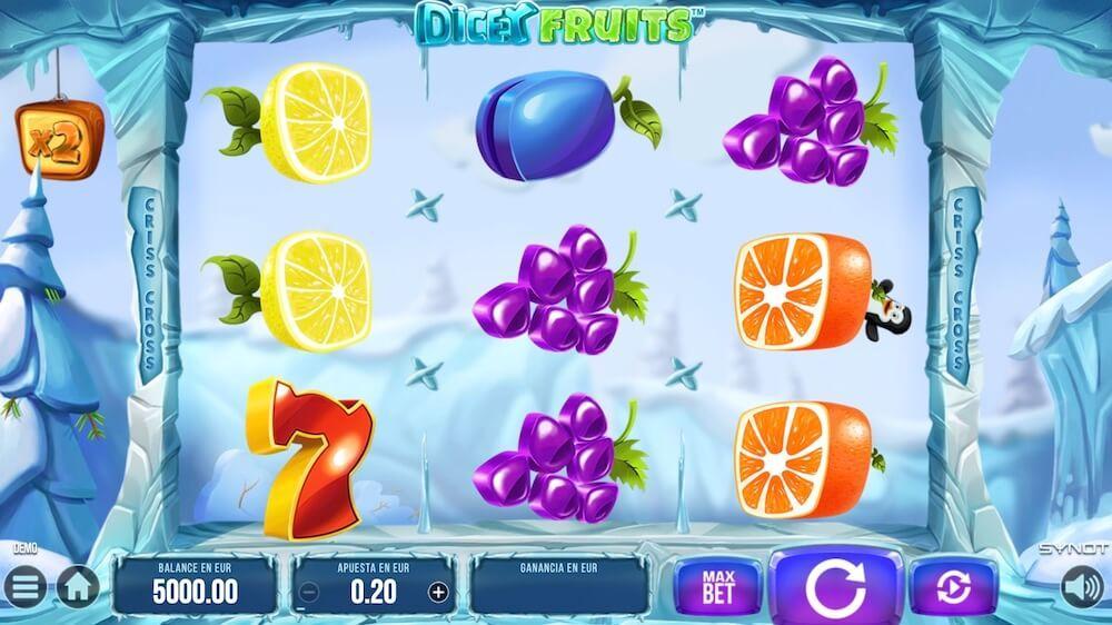 Jugar Gratis a la Dicey Fruits tragaperras online