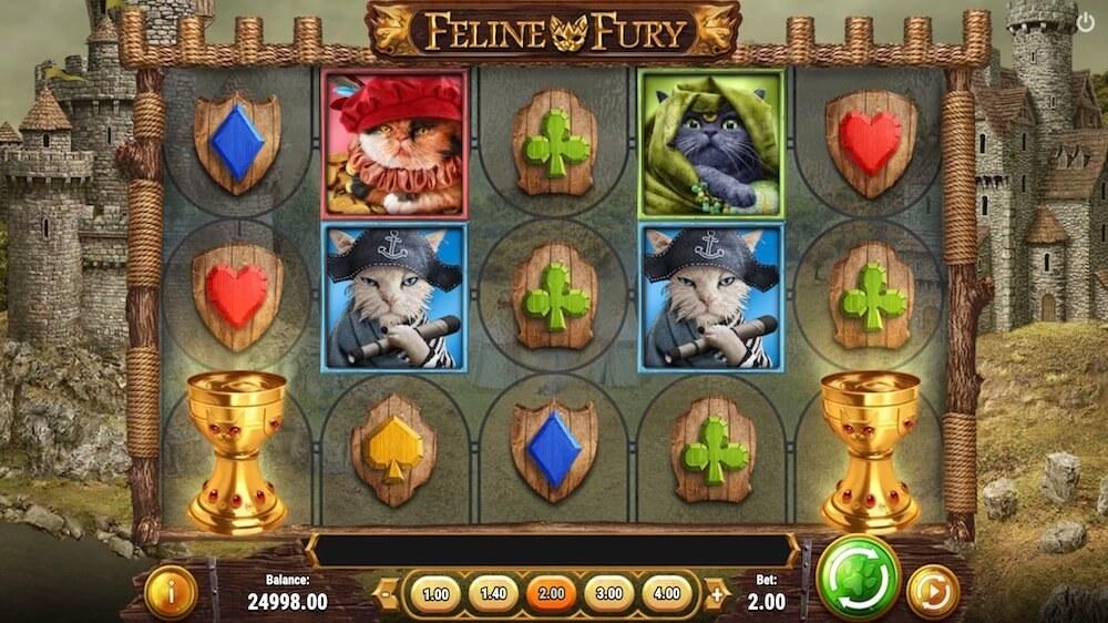 Jugar Gratis a la Feline Fury tragaperras online