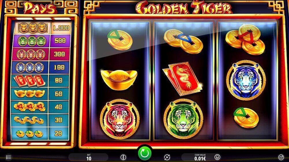 Jugar Gratis a la Golden Tiger tragaperras online