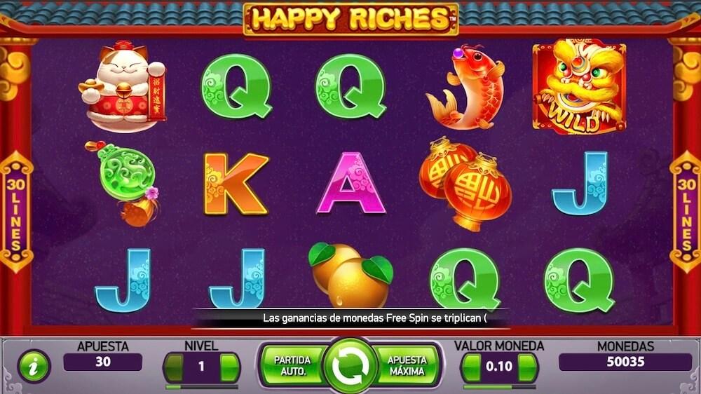 Jugar Gratis a la Happy Riches tragaperras online