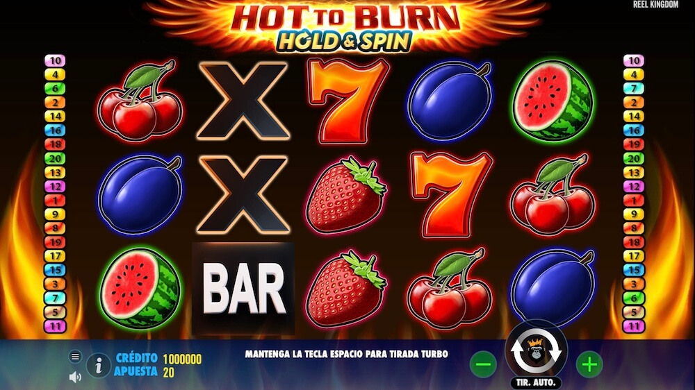Jugar Gratis a la Hot to Burn Hold & Spin tragaperras online