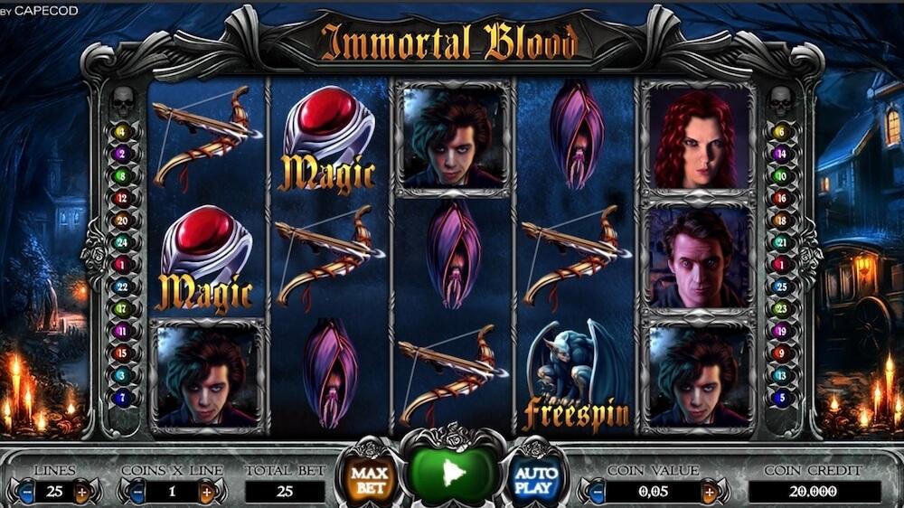 Jugar Gratis a la Immortal Blood tragaperras online