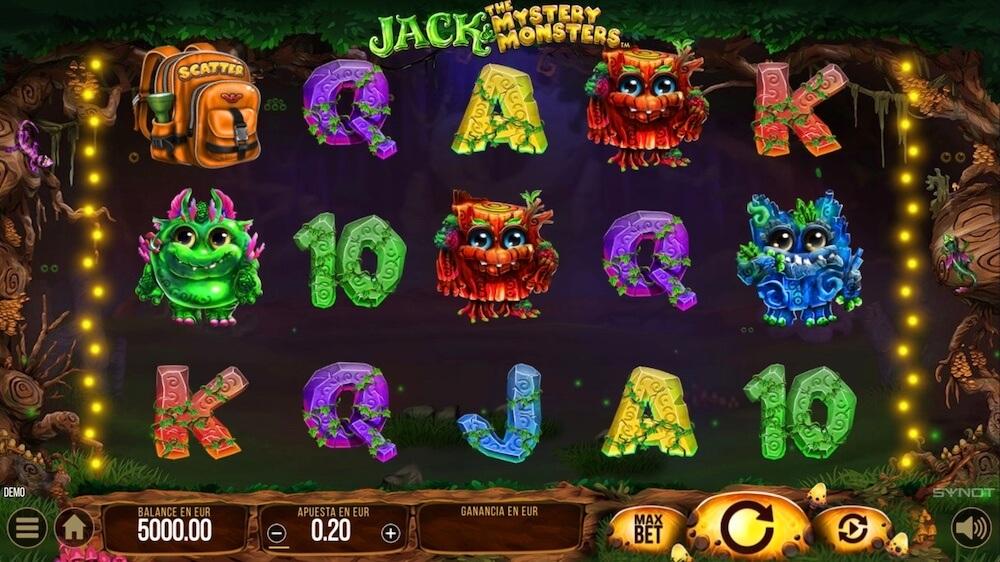 Jugar Gratis a la Jack and the Mystery Monsters tragaperras online