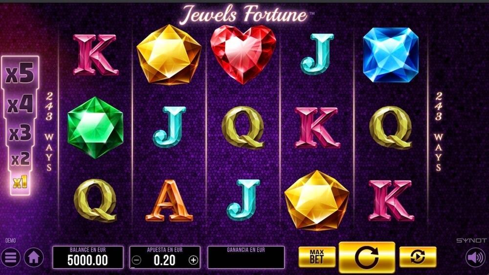 Jugar Gratis a la Jewel's Fortune tragaperras online