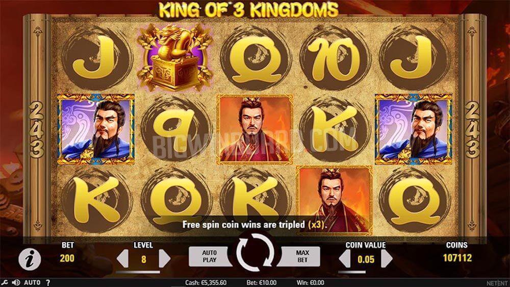 Jugar Gratis a la King of 3 Kingdoms tragaperras online
