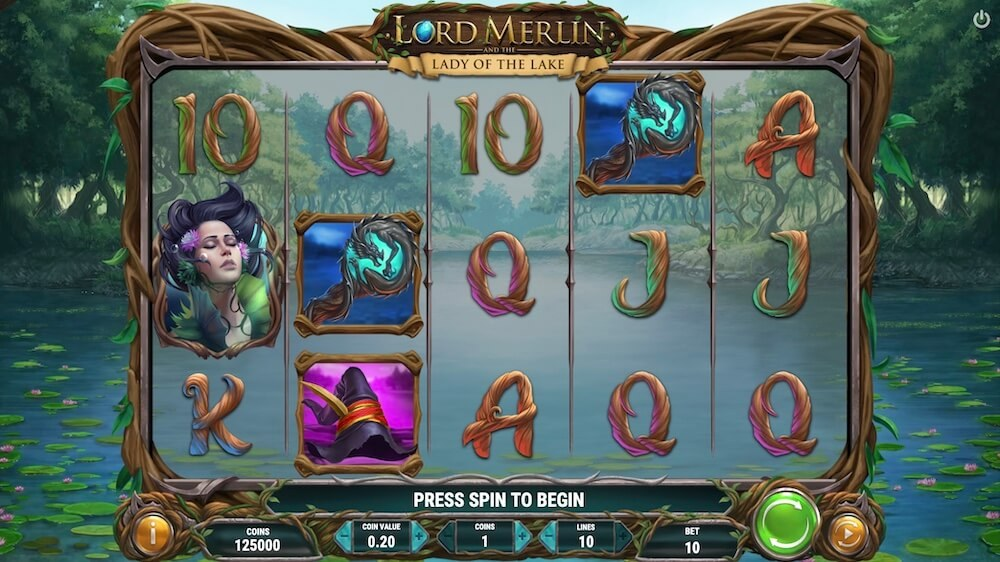 Jugar Gratis a la Lord Merlín and the Lady of the Lake tragaperras online