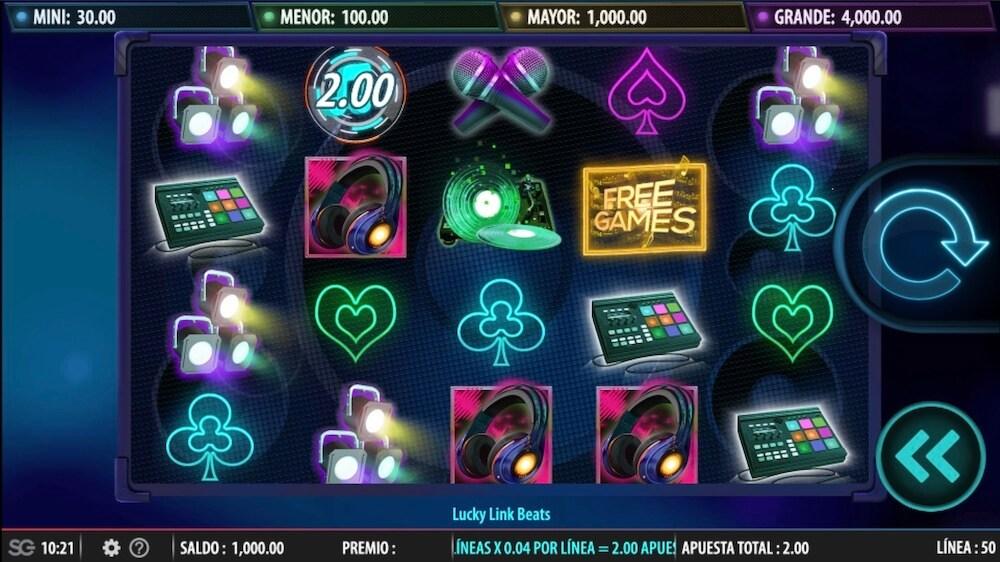 Jugar Gratis a la Lucky Link Beats tragaperras online