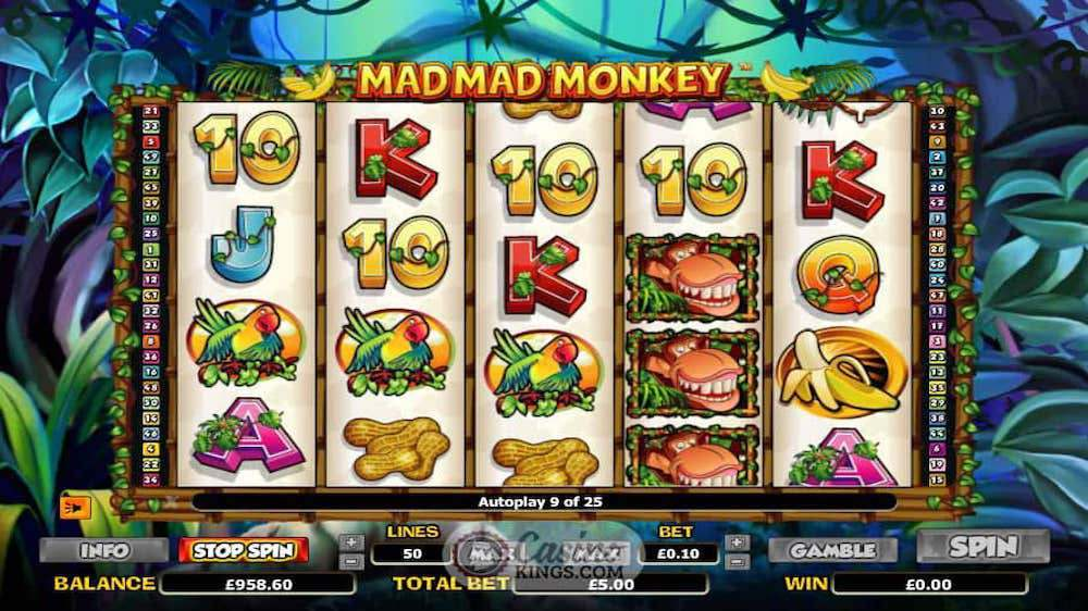 Jugar Gratis a la Mad Mad Monkey tragaperras online