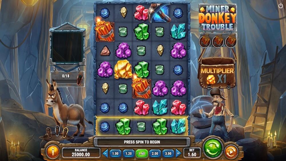 Jugar Gratis a la Miner Donkey Trouble tragaperras online