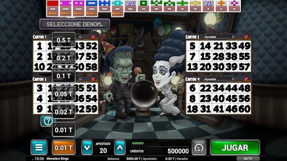 Jugar Gratis a la Monsters Bingo tragaperras online