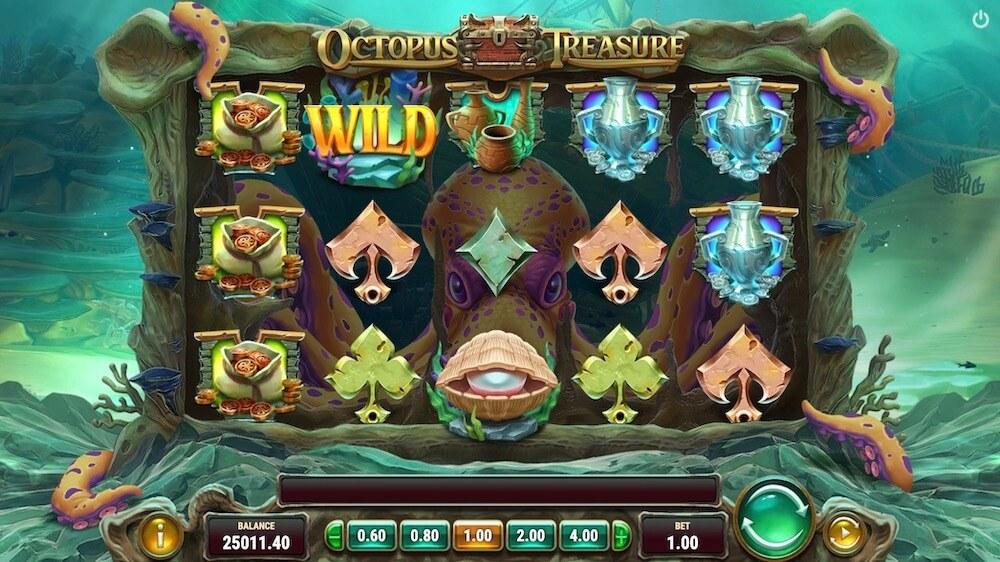 Jugar Gratis a la Octopus Treasure tragaperras online