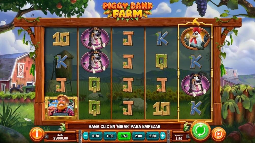 Jugar Gratis a la Piggy Bank Farm tragaperras online