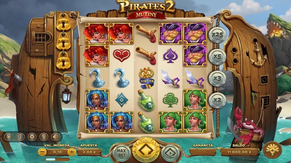 Jugar Gratis a la Pirates 2 Mutiny tragaperras online