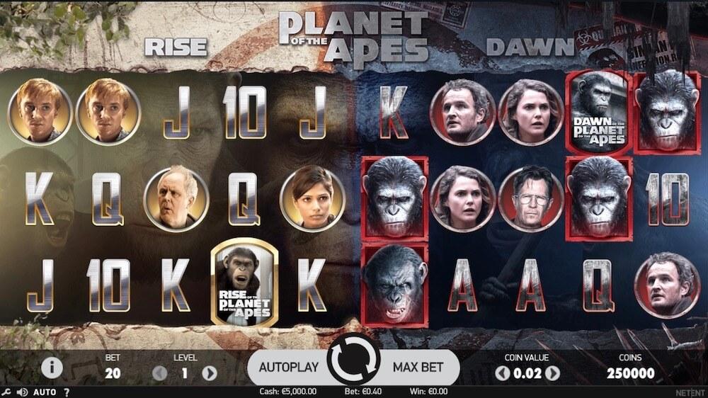 Jugar Gratis a la Planet of the Apes tragaperras online