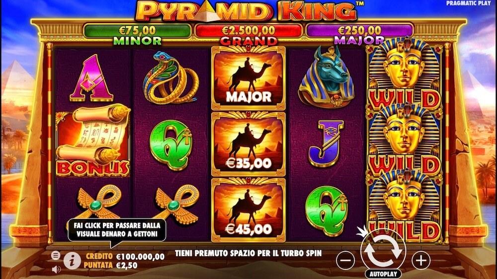 Jugar Gratis a la Pyramid King tragaperras online