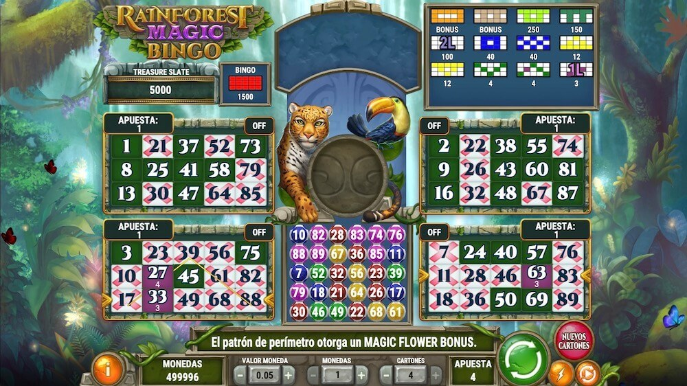 Jugar Gratis a la Rainforest Magic Bingo tragaperras online