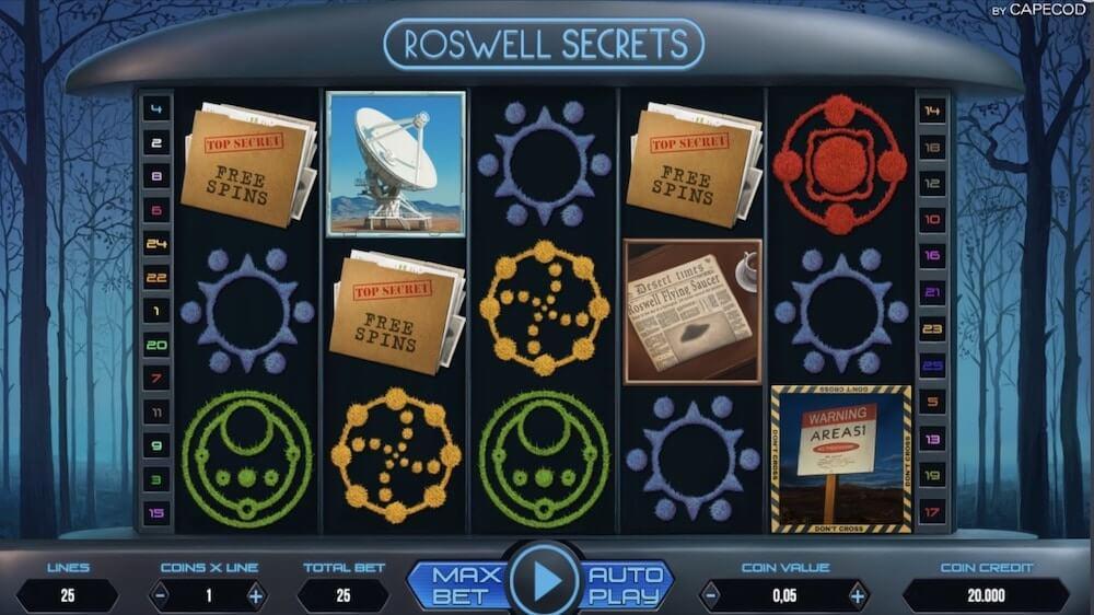 Jugar Gratis a la Roswell Secrets tragaperras online