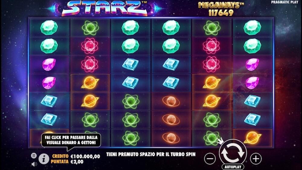 Jugar Gratis a la Starz Megaways tragaperras online