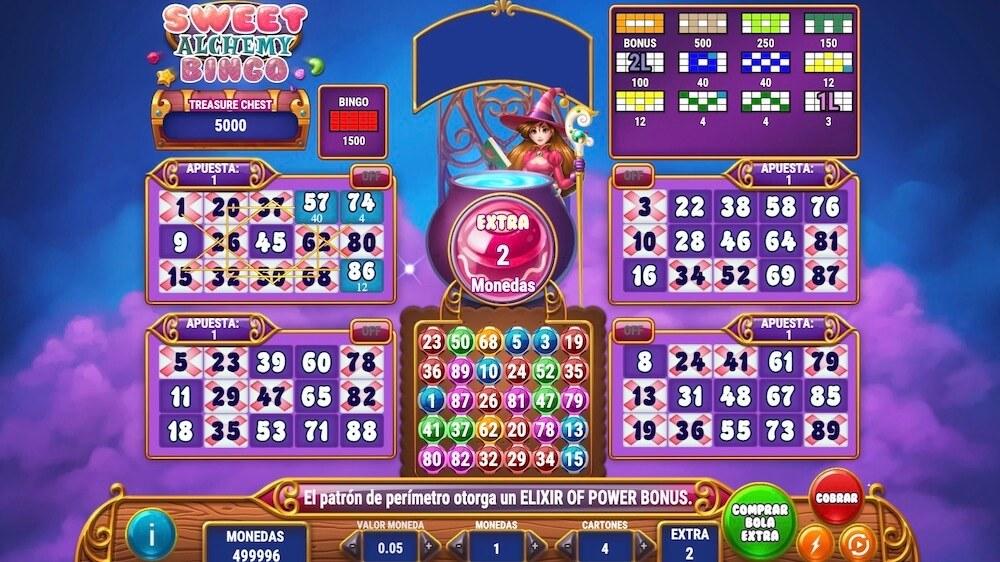 Jugar Gratis a la Sweet Alchemy Bingo tragaperras online