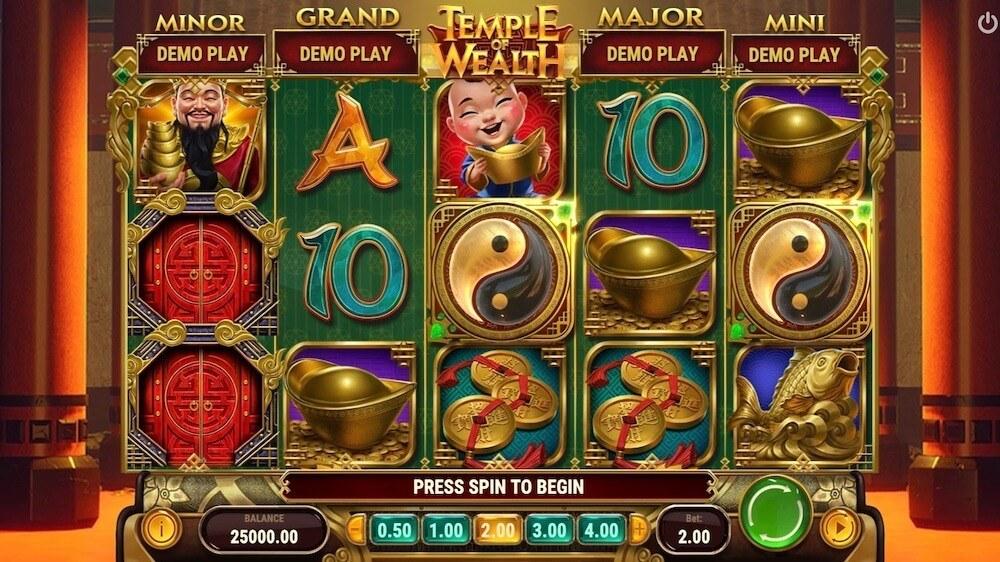 Jugar Gratis a la Temple of Wealth tragaperras online