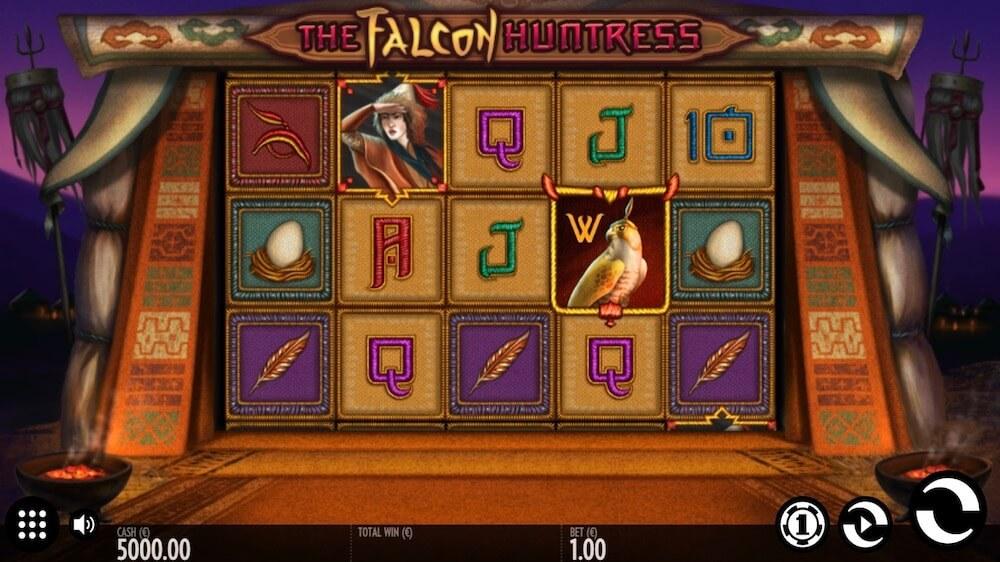Jugar Gratis a la The Falcon Huntress tragaperras online