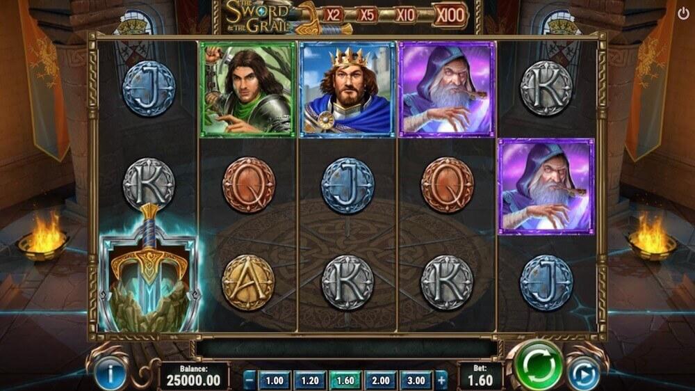 Jugar Gratis a la The Sword and the Grail tragaperras online